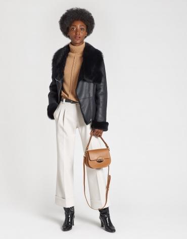 Tan leather Eugene Nano handbag