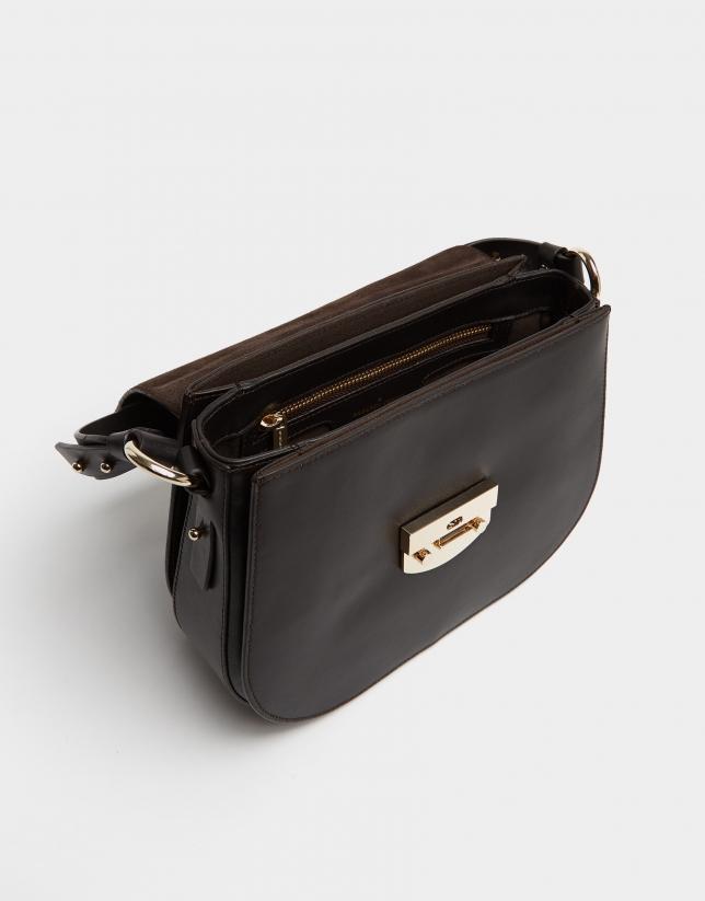 Brown leather Eugene Nano handbag