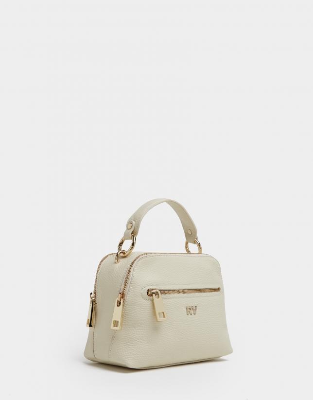 Beige leather Mini Apolo handbag