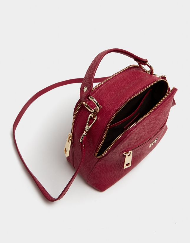 Red leather Mini Apolo handbag