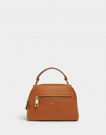 Brick red leather Mini Apolo handbag