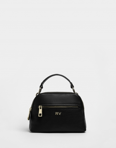 Black leather Mini Apolo handbag