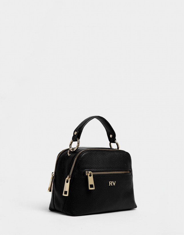 Black leather Mini Apolo handbag
