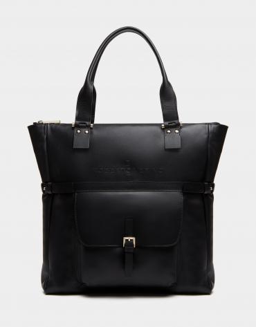 Bolso shopper Charlotte piel negro