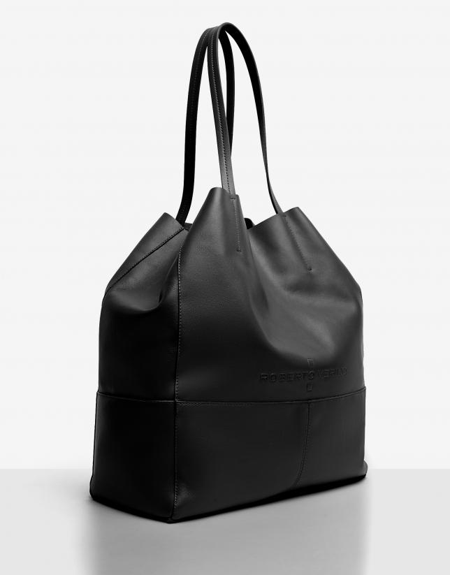 Bolso shopper Megan piel negro