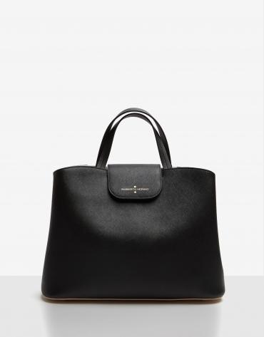 Black Saffiano leather Ryan Maxi satchel