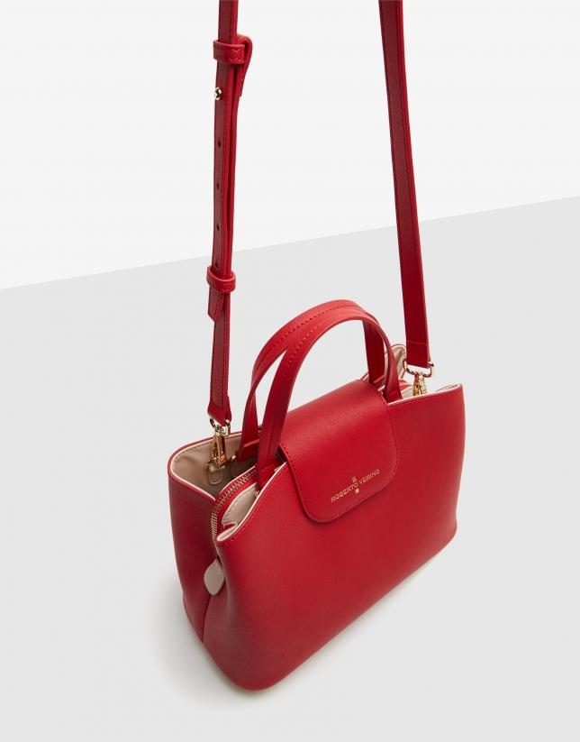 Red Saffiano leather Ryan Midi satchel