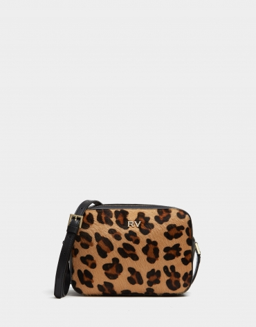 Brown animal print leather Taylor shoulder bag