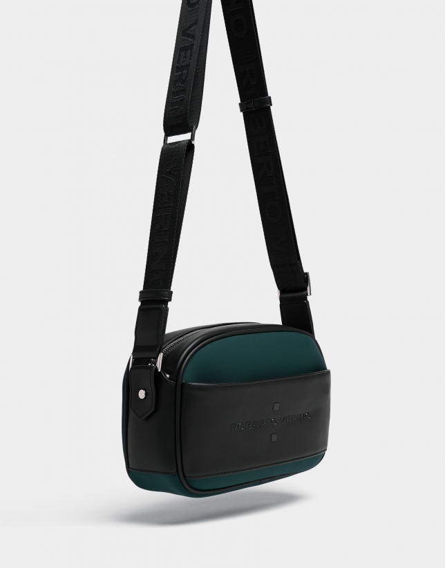 Green neoprene Nora Cross shoulder bag