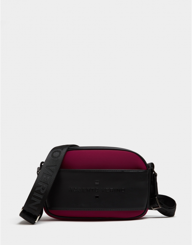 Aubergine neoprene Nora Cross shoulder bag