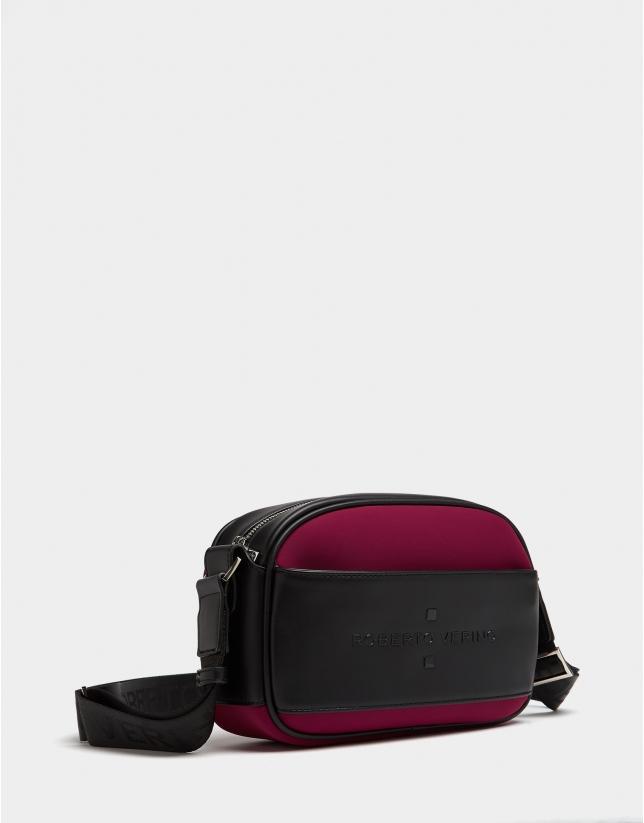 Aubergine neoprene Nora Cross shoulder bag