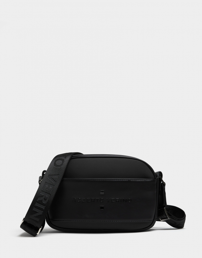 Black neoprene Nora Cross shoulder bag