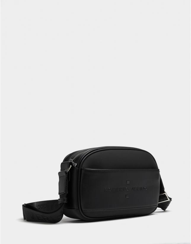 Black neoprene Nora Cross shoulder bag