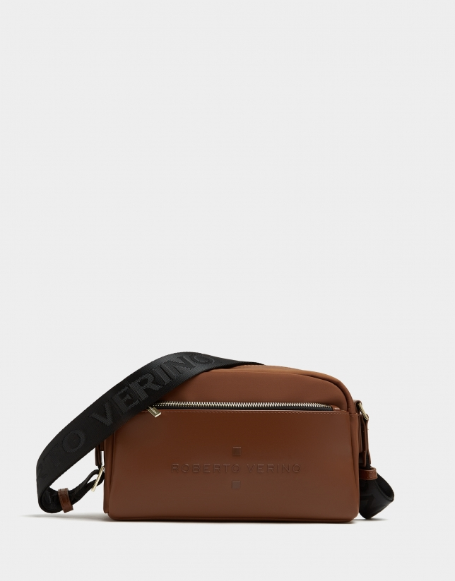 Brown naylon shoulder Simoneta Midi