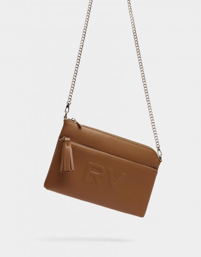 Tan leather Lisa Plus shoulder bag
