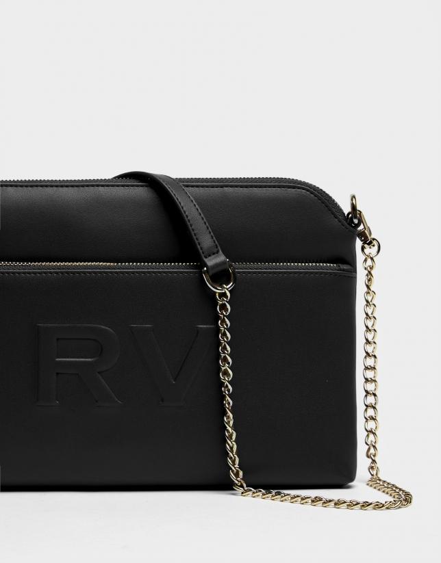 Black leather Lisa Plus shoulder bag
