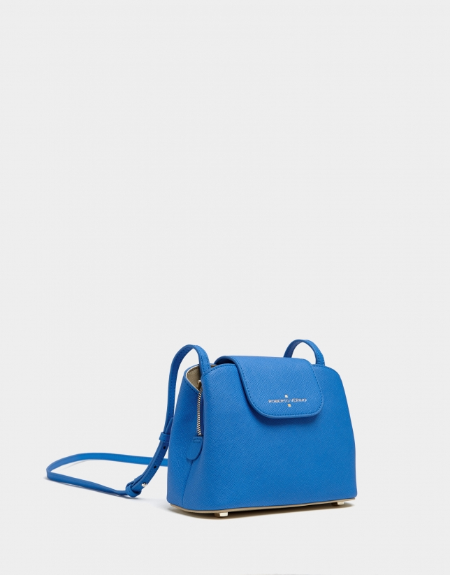 Blue Saffiano leather Ryan Cross shoulder bag