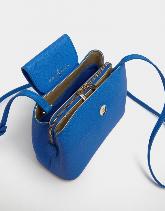 Bolso bandolera Ryan Cross piel saffiano azul