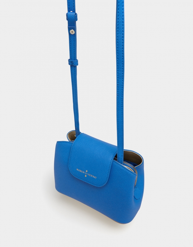 Blue Saffiano leather Ryan Cross shoulder bag