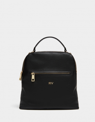 Black leather Apolo backpack