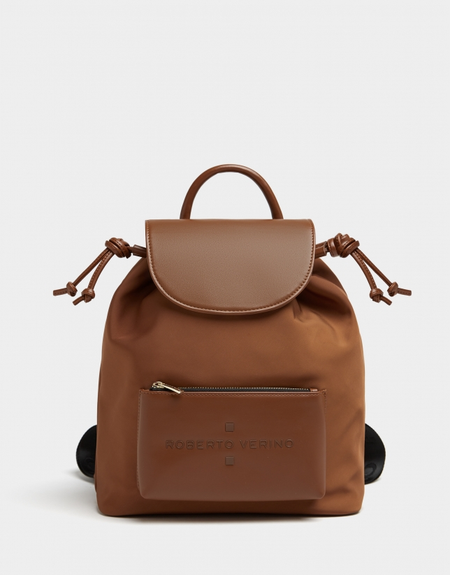 Brown nylon Simoneta backpack