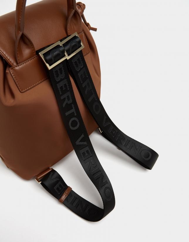 Brown nylon Simoneta backpack