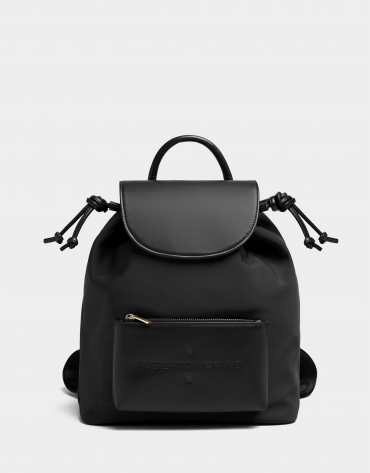 Black nylon Simoneta backpack