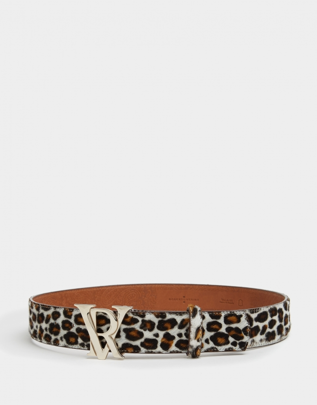 Animal print belt with RV buckle