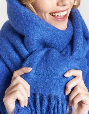 Bufanda flecos azulón