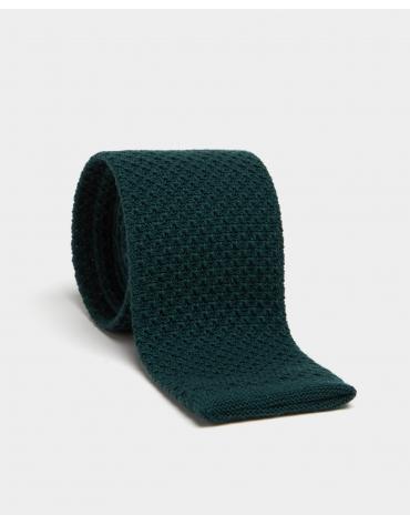 Bottle green wool tie