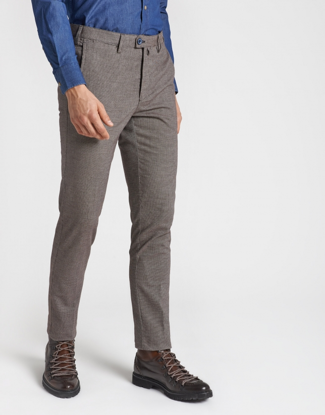 Tan regular fit chinos