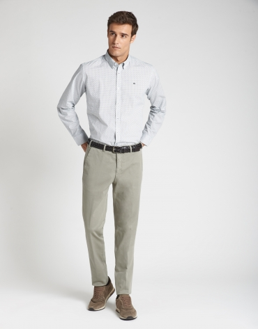 Light khaki slim fit chinos