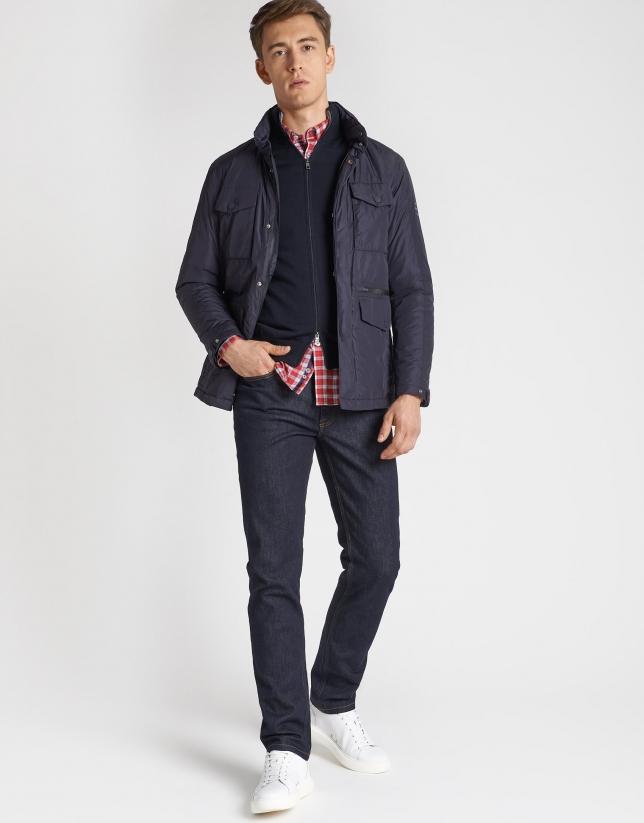 Pantalón vaquero azul lavado desencolado