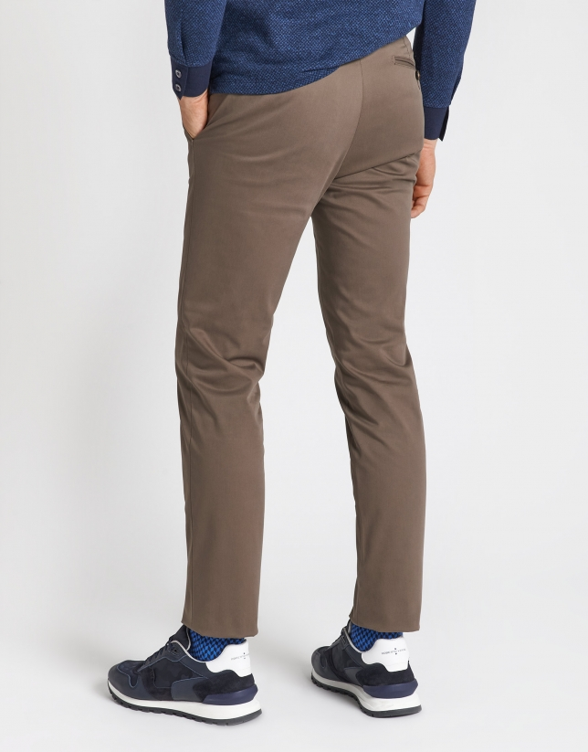 Mink cotton chinos