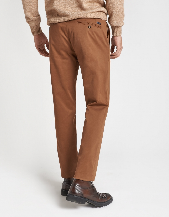 Tan cotton chinos