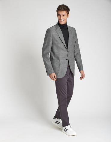 Pantalón chino algodón gris