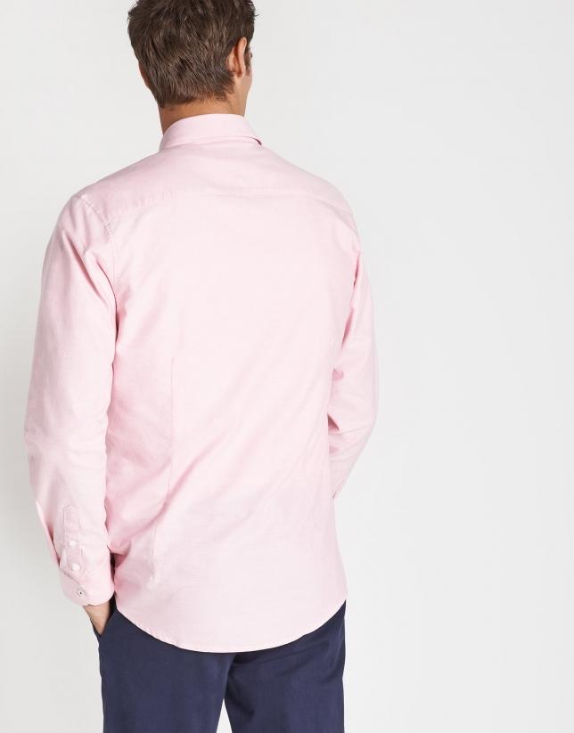 Pink Oxford cotton sport shirt