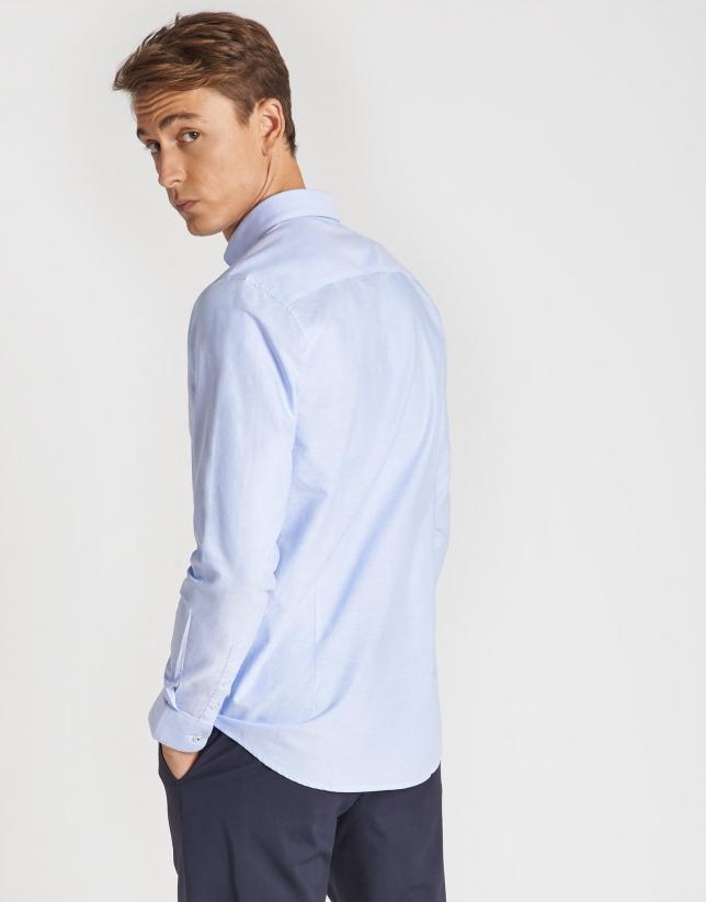 Light blue Oxford cotton sport shirt