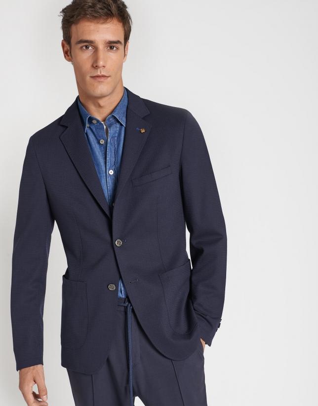 Blue denim shirt with pockets