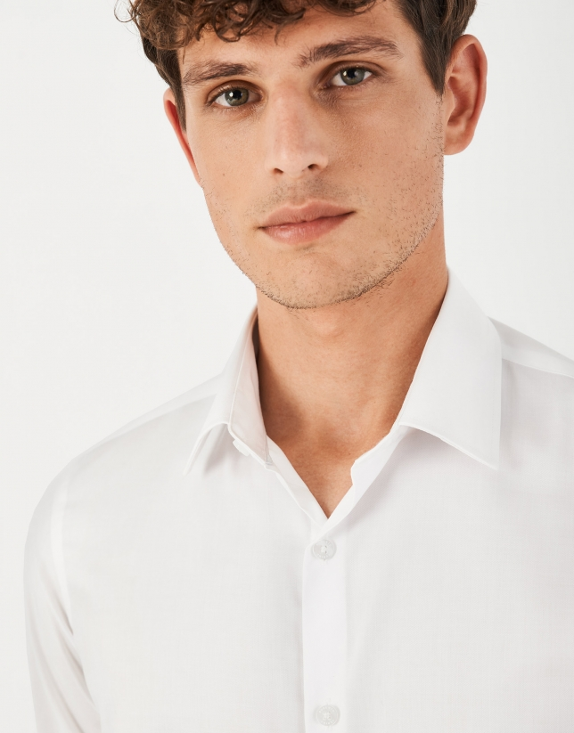 White, easy care dress regular fit shirt