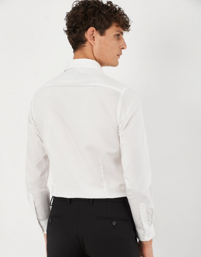 Camisa vestir regular easy care blanco