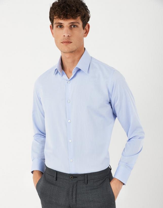 Light blue, easy care dress regular fit shirt