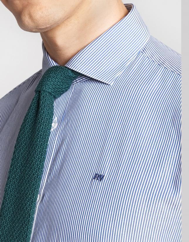 Camisa sport regular rayas azul