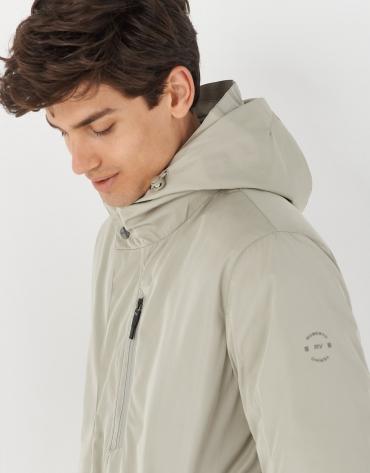Gray short raincoat and windbreaker