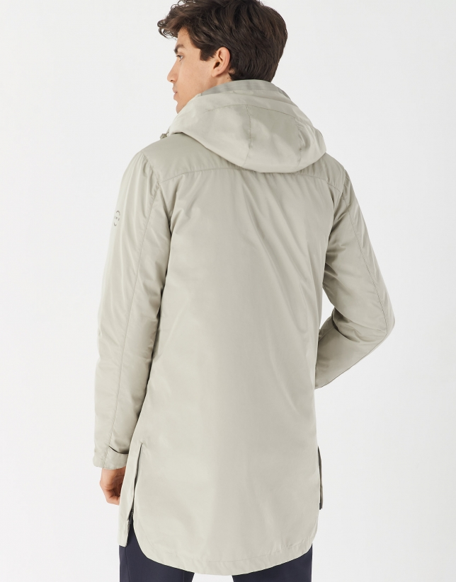 Gray short raincoat and windbreaker