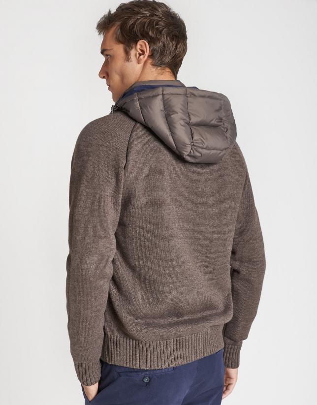 Tan knit windbreaker