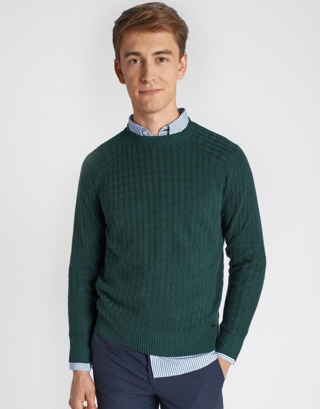 Green diamond sweater
