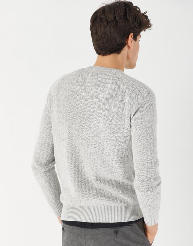 Light gray diamond sweater
