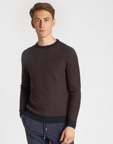 Jersey bicolor marino/tostado