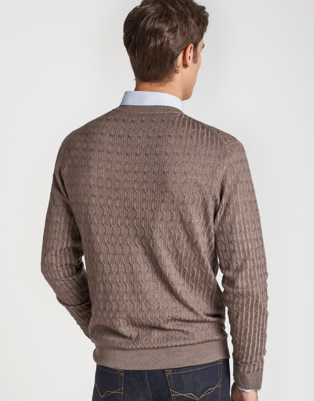Jersey tintado visón con ochos